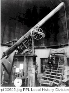 The Warner Observatory Interior and Dr. Swift
