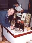 Jack Stecher at the Warner\'s Exhibit in 2001
