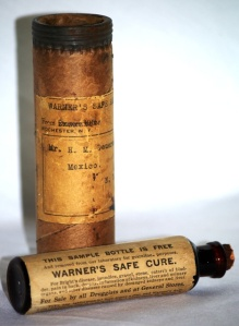 Warner\'s Safe Cure Free Sample w/ Label and Container