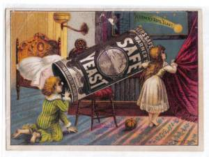 Warner\'s Safe Yeast Telescope Trade Card