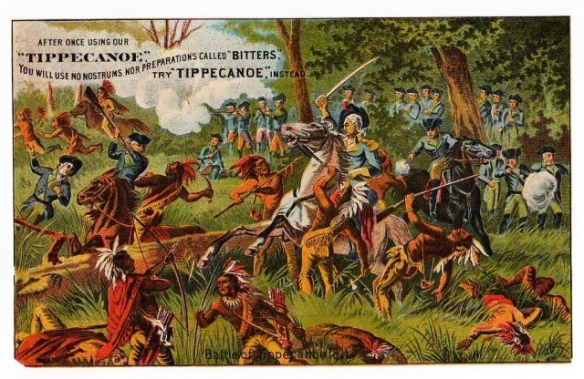Warner's Tippecanoe Trade Card - Battle of Tippecanoe