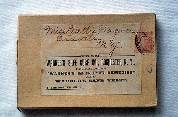 Warner's Safe Thermometer Box