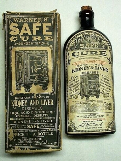 Warner's Safe Cure Melbourne w/ Label and Box