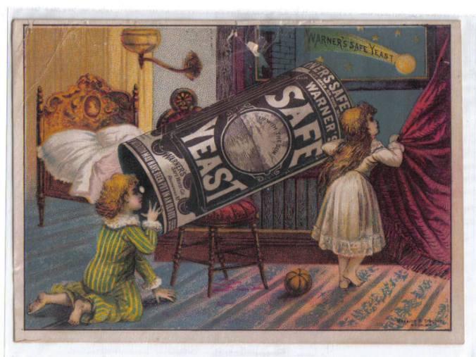 Warner's Safe Yeast Comet Trade Card