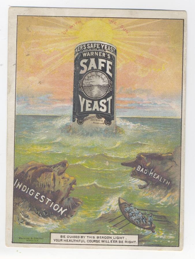 Warner's Safe Yeast Trade Card