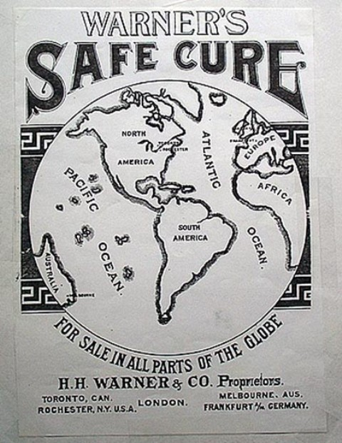 "Warner's Safe Cure - ""For Sale in All Parts of the World"""