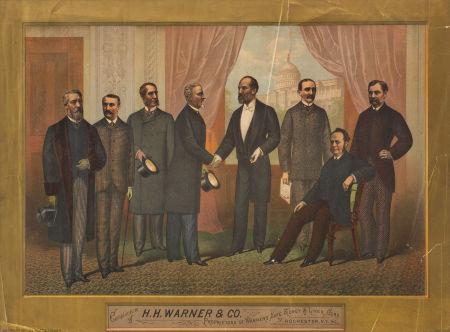Warner Safe Remedies Poster Featuring President James A. Garfield