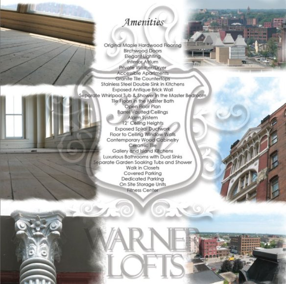 Advertisement for Warner Lofts