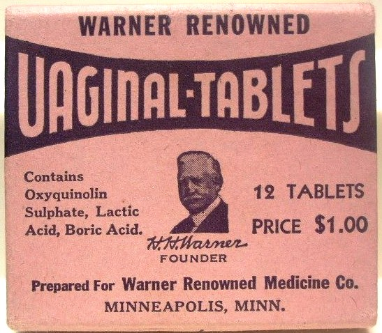 Warner's Renowned Vaginal Tablets