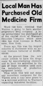Warner's Remedies Company - Warren Times Mirror - 25 Apr. 1947