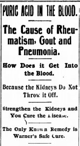 Warner's Safe Cure - The Hamilton Journal News - 15 Mar 1895