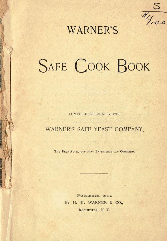 1891 Warner's Safe Cookbook (5th Ed. 1891) (Title Page)