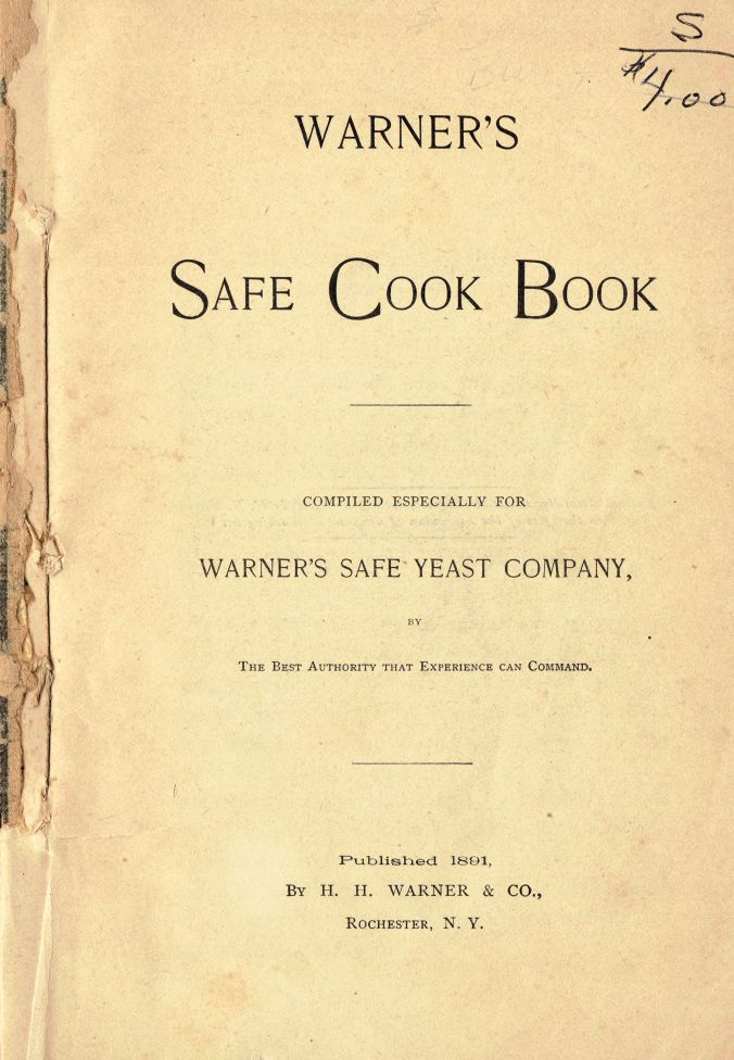 1891 Warner's Safe Cookbook (5th Ed. 1891) (Title Page)