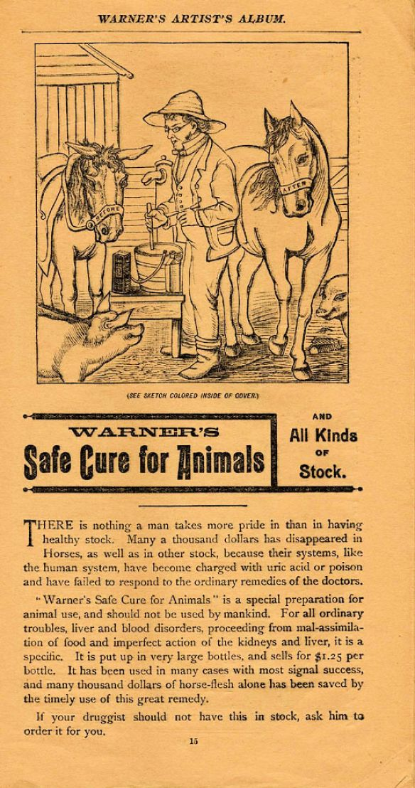 Animal Cure in 1888 Artist Album