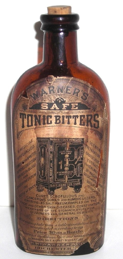 Safe Tonic Bitters with Label