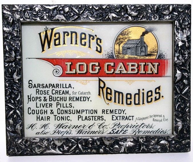 Log Cabin Remedies Sign